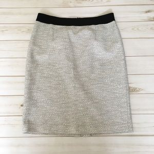 Grey pencil skirt gray black by Banana Republic